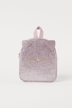 Glittery Mini Backpack - Pink