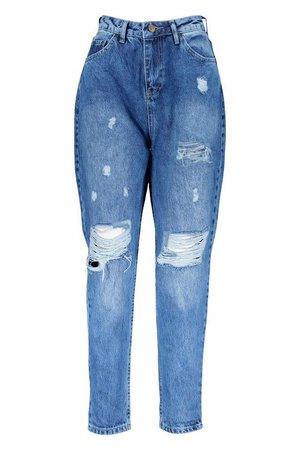 Distressed Boyfriend Jeans | Boohoo