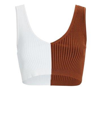 STAUD Hana Colorblock Rib Knit Bralette   INTERMIX®