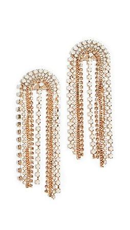 Stella + Ruby Золотые серьги-люстры с кристаллами | SHOPBOP