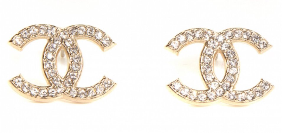 gold cc earrings