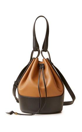Balloon Two-Tone Leather Shoulder Bag by Loewe | Moda Operandi