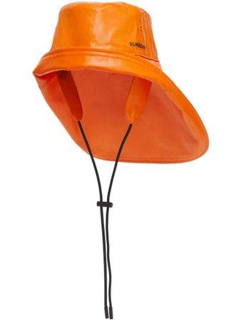 Burberry logo-print fisherman hat orange 8040571 - Farfetch