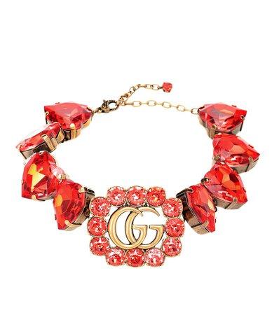 Double G Crystal-Embellished Choker | Gucci - Mytheresa