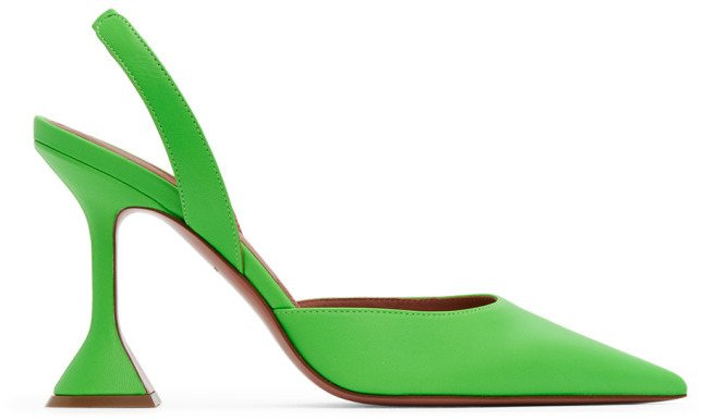Green Holli Sling Heels