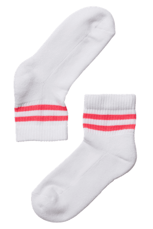 red striped tube socks