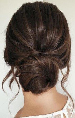 hairstyle, low bun