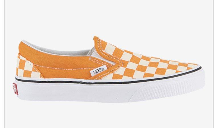 Orange Slip On Vans
