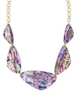 Mckenna Gold Statement Necklace in Lilac Abalone | Kendra Scott