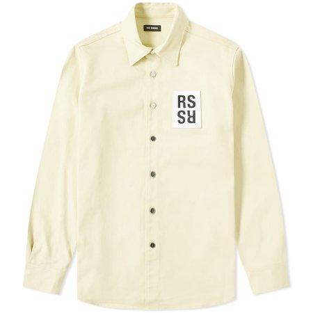 Raf Simons Denim Shirt Jacket Pastel Yellow   END.