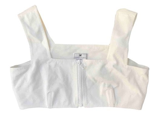 white crop top preowned