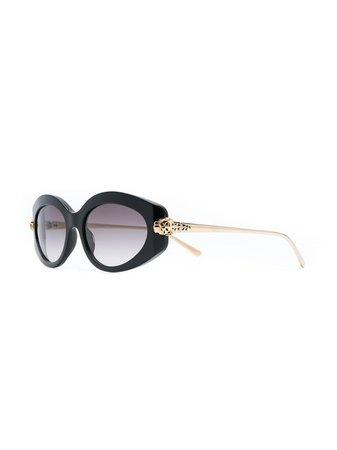Cartier Eyewear Panthère De Cartier Sunglasses Aw19 | Farfetch.com