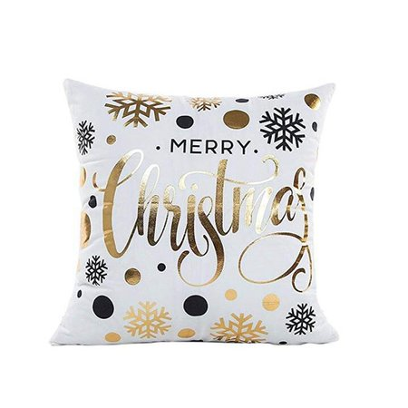 DressLily.com: Photo Gallery - Gold Stamping Print Snowflakes Merry Christmas Series Throw Pillow Cushion Case