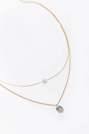 Layered CZ Pendant Necklace | Forever 21