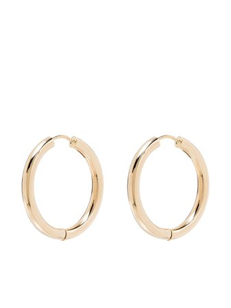 Adina Reyter 14kt Yellow Gold Hoop Earrings - Farfetch