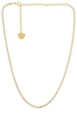 BRACHA Sienna Tennis Necklace in Gold | REVOLVE