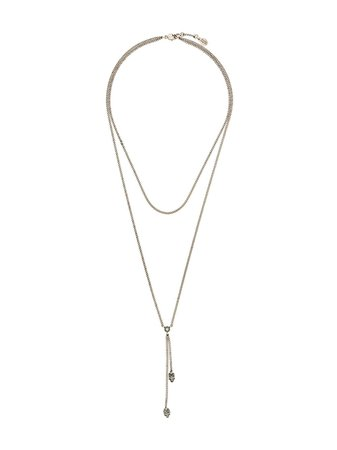 Alexander McQueen double-wrap Skull Necklace - Farfetch
