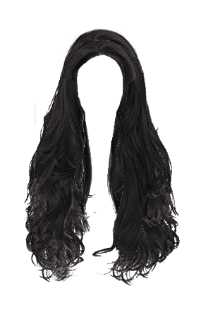 black hair png edit