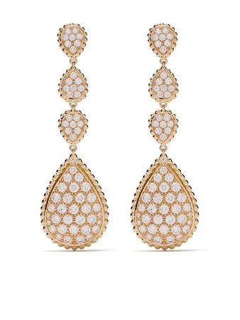 Boucheron 18kt yellow gold Serpent Bohème diamond pendant earrings $39,100 - Buy SS19 Online - Fast Global Delivery, Price