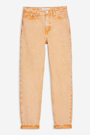 Orange Acid Wash Mom Jeans | Topshop orange