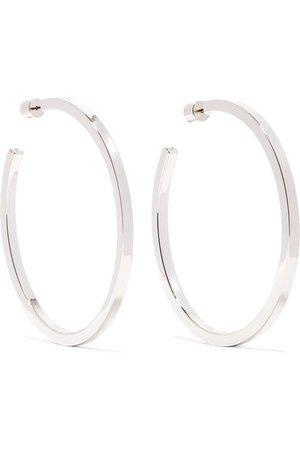 Jennifer Fisher | Shane silver-plated hoop earrings | NET-A-PORTER.COM