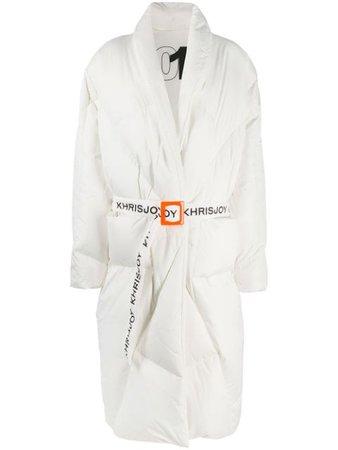 Khrisjoy contrast-belt puffer jacket - FARFETCH