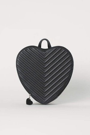 Heart-shaped Backpack - Black