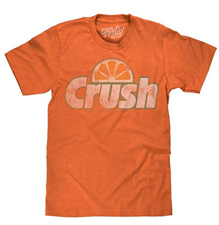 Tee Luv Orange Crush Officially Licensed Graphic T-Shirt | Vintage Soft Touch Poly Cotton Blend Tee by