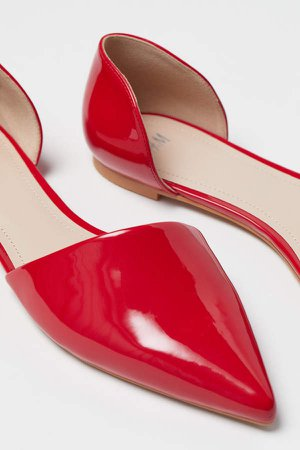 Pointed Flats - Red