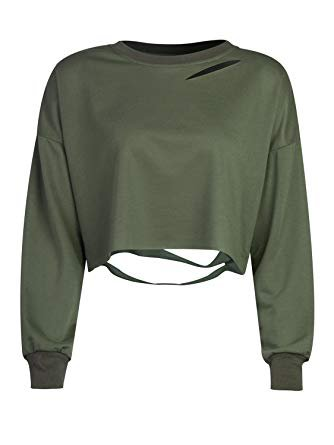 army green crop top - Google Search