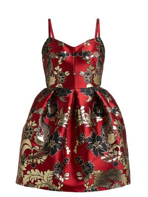 Spring Garden-print silk midi dress | Valentino | MATCHESFASHION.COM