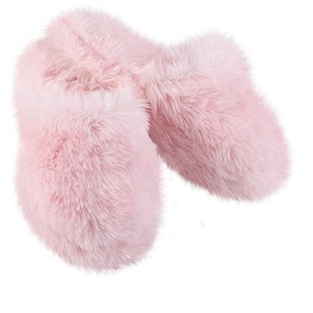 Pink Fuzzy Wuzzies Slippers ($20)