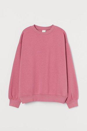 Cotton-blend Sweatshirt - Pink