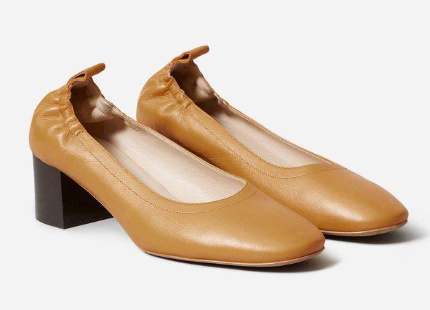 Everlane - The Day Heel, honey beige