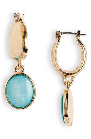 Halogen® Shell Disc Huggie Hoop Earrings | Nordstrom