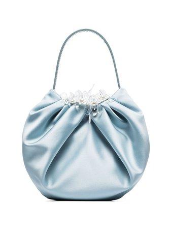 Simone Rocha Embellished Pleated Silk Clutch Bag Ss20   Farfetch.com