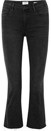 Le Crop Mini Mid-rise Bootcut Jeans - Black
