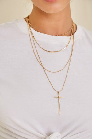 Layered Cross Pendant Necklace Set | Forever 21