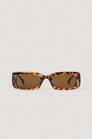 Wide Retro Look Sunglasses Brown | na-kd.com