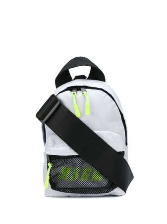 MSGM neon-logo Mini Backpack - Farfetch