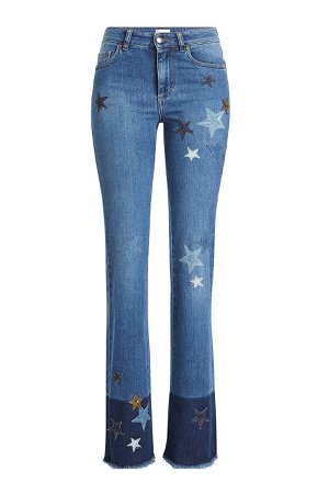 Flared Jeans with Star Patches Gr. 29