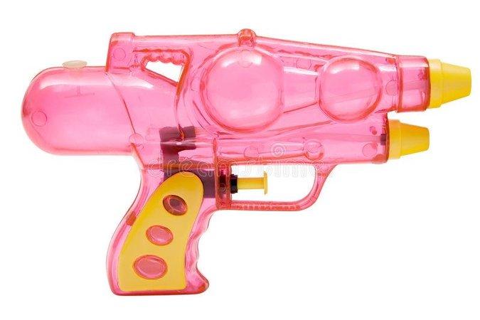 pink scifi water gun pew