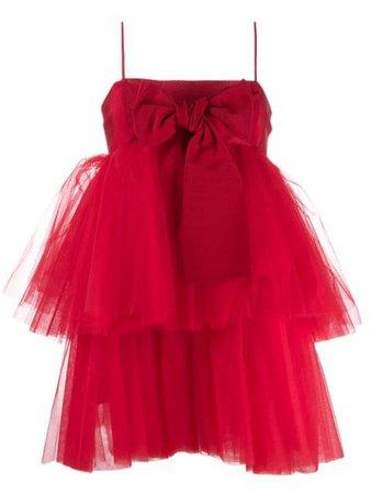 Brognano Tulle Detail Mini Dress - Farfetch