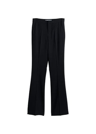 MANGO Flared cotton-blend trousers