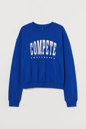 Cotton-blend Sweatshirt - Blue