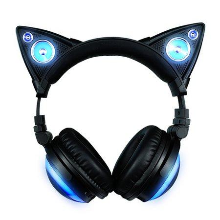 Cat-Ear Headphone (black + blue)