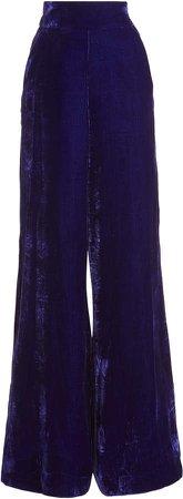 Dundas Velvet Wide-Leg Trousers