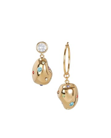 MOUSER | Atomic Crystal-Accented Drop Earrings | INTERMIX®