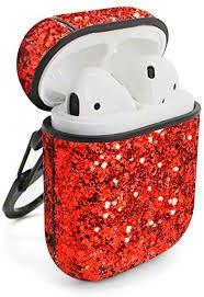 red glitter airpod case - Google Search
