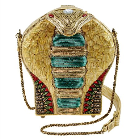 Mary Frances Disney Aladdin Mesmerize 3D Cobra Beaded Handbag, Gold